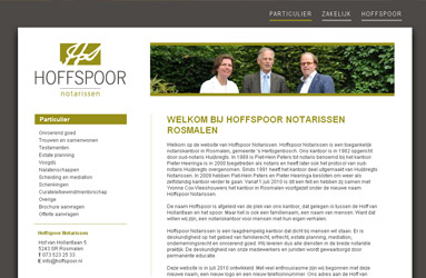 Open de website Hoffspoor Notarissen