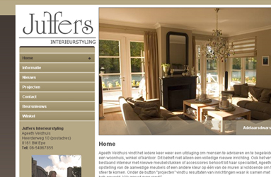 Open de website Juffers Interieurstyling