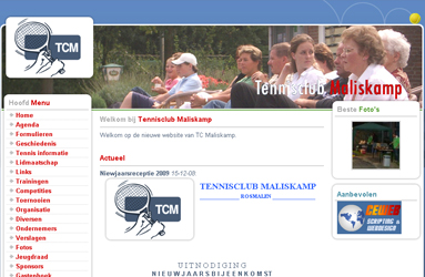 Open de website Tennisclub Maliskamp