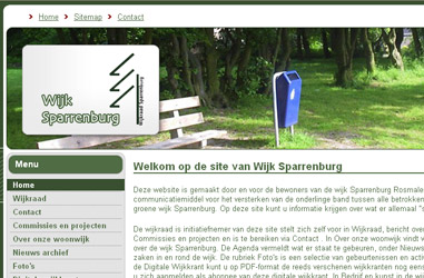 Open de website Wijkraad Sparrenburg