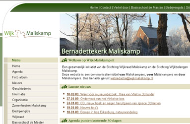 Open de website Wijk Maliskamp
