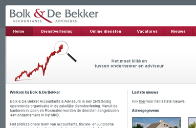 Open de website Bolk en de Bekker