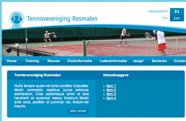 Open de website Tennisvereniging Rosmalen